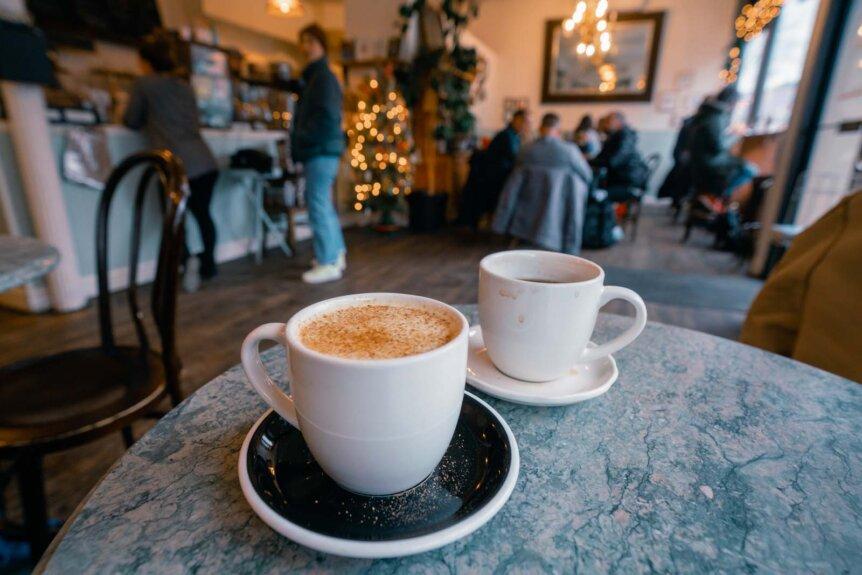 Coffee in Kos Kaffe Park Slope Brooklyn