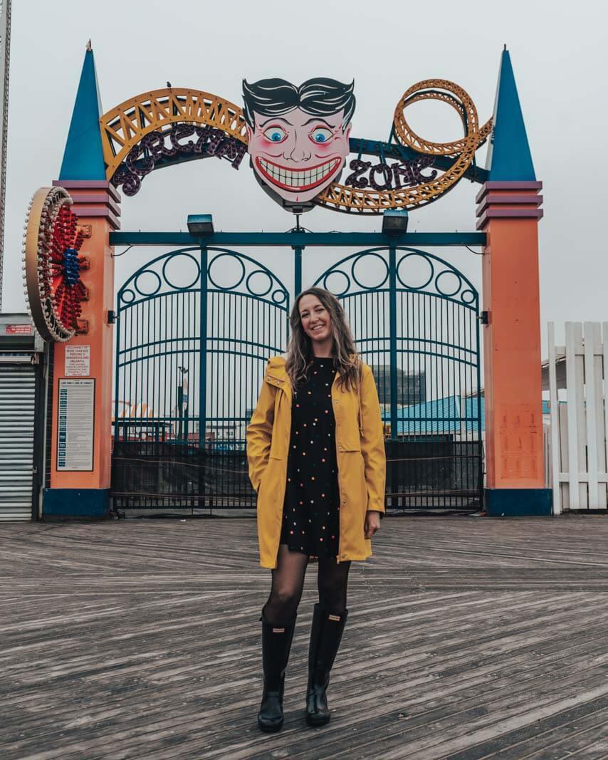 Coney Island boardwalk instagram photo spot