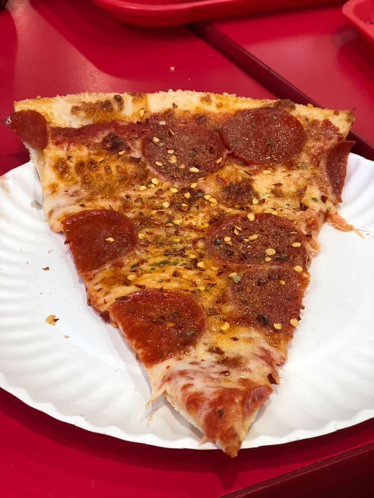 Joes Pizza in Williamsburg Brooklyn by the slice