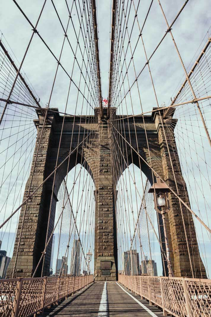 Brooklyn Bridge with no one else on it!