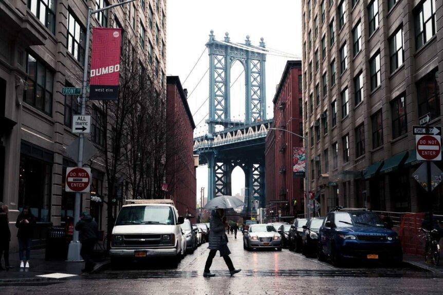 Manhattan Bridge View in Dumbo