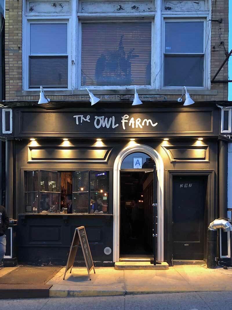 Owl Farm bar in Park Slope Brooklyn