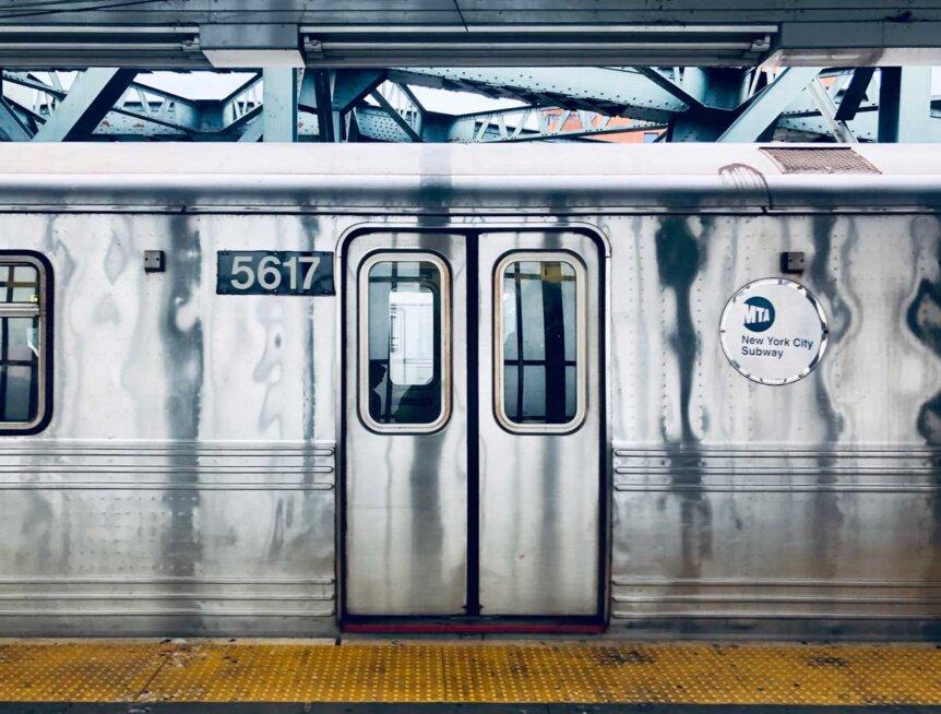 subway car in brooklyn
