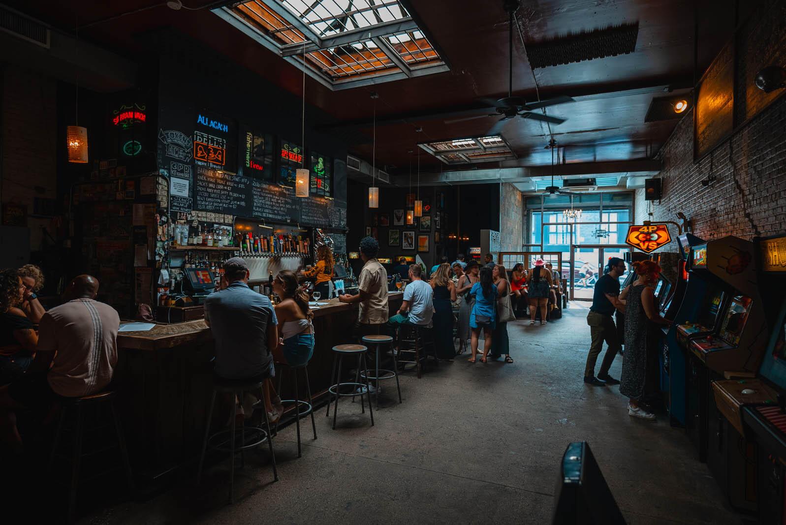 Barcade bar and arcade in Williamsburg Brooklyn
