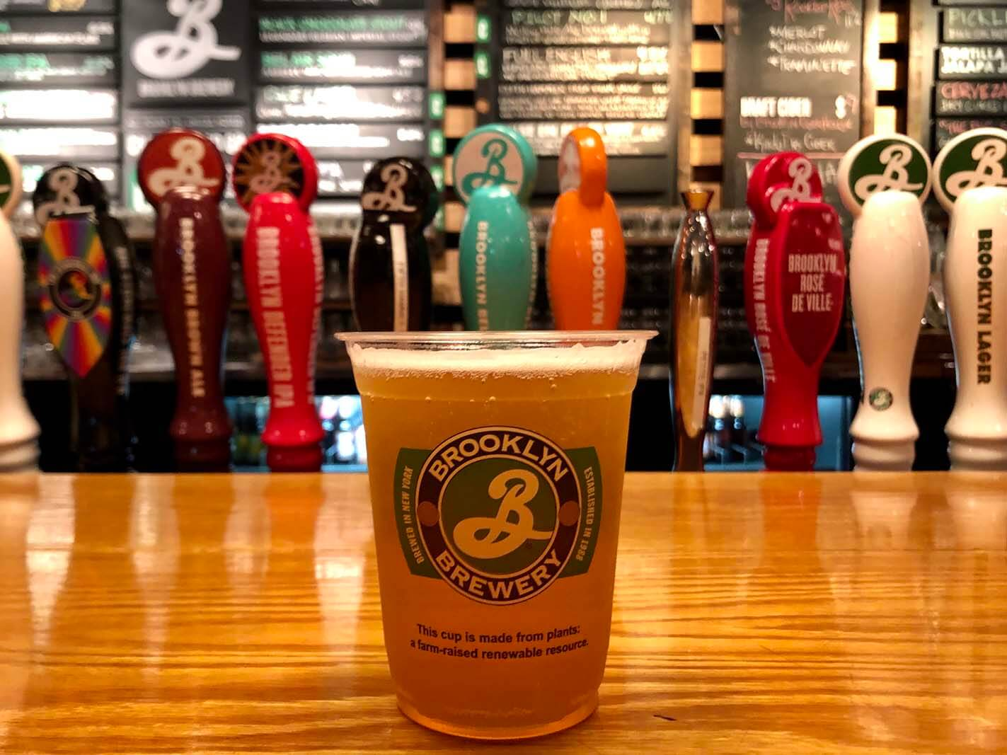 Brooklyn Brewery bar in Williamsburg Brooklyn