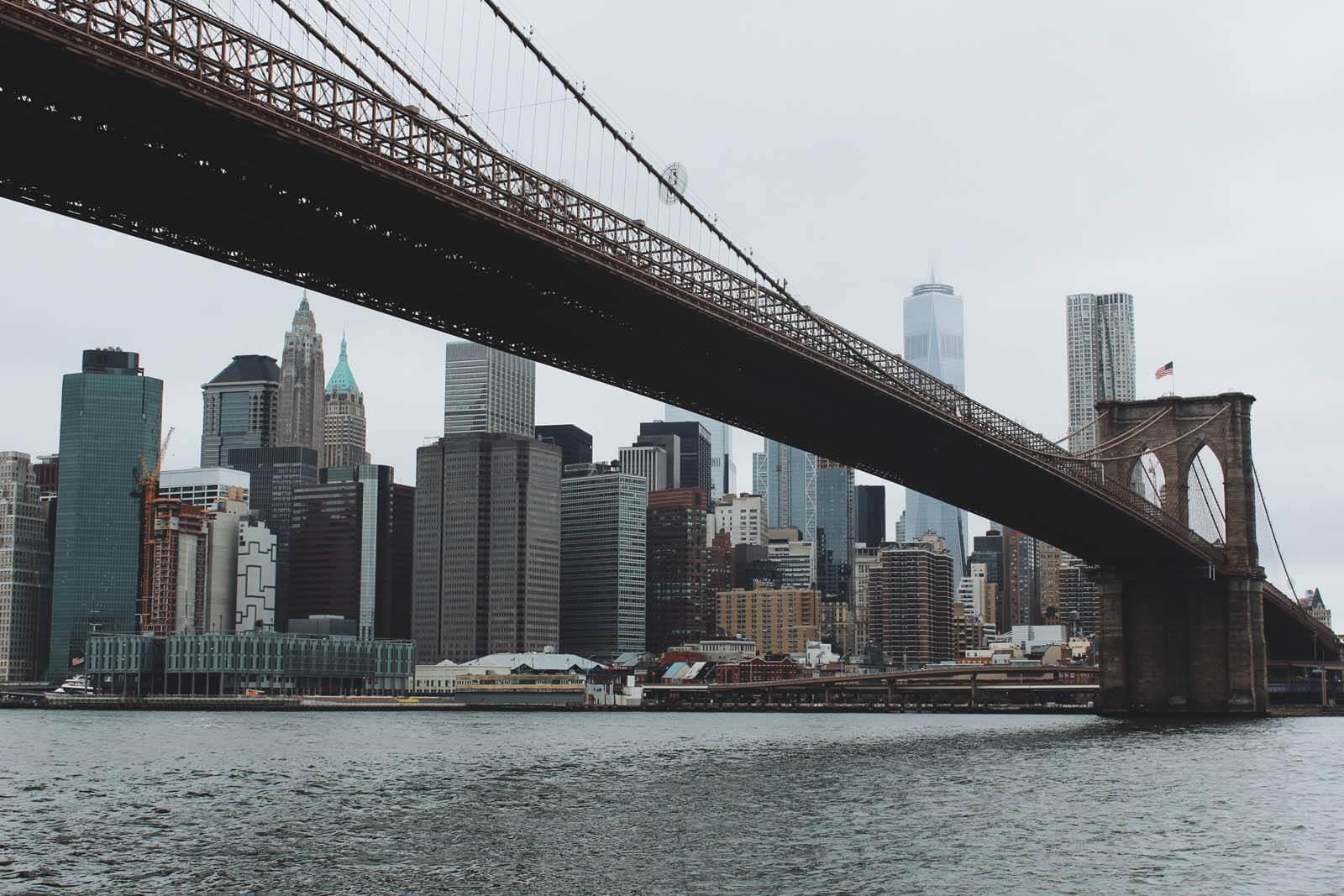 Brooklyn Bridge view by Katie Hinkle