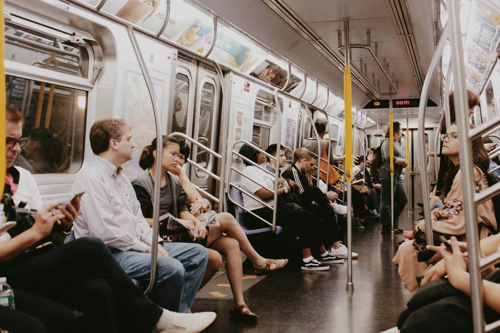 inside NYC subway by Katie Hinkle