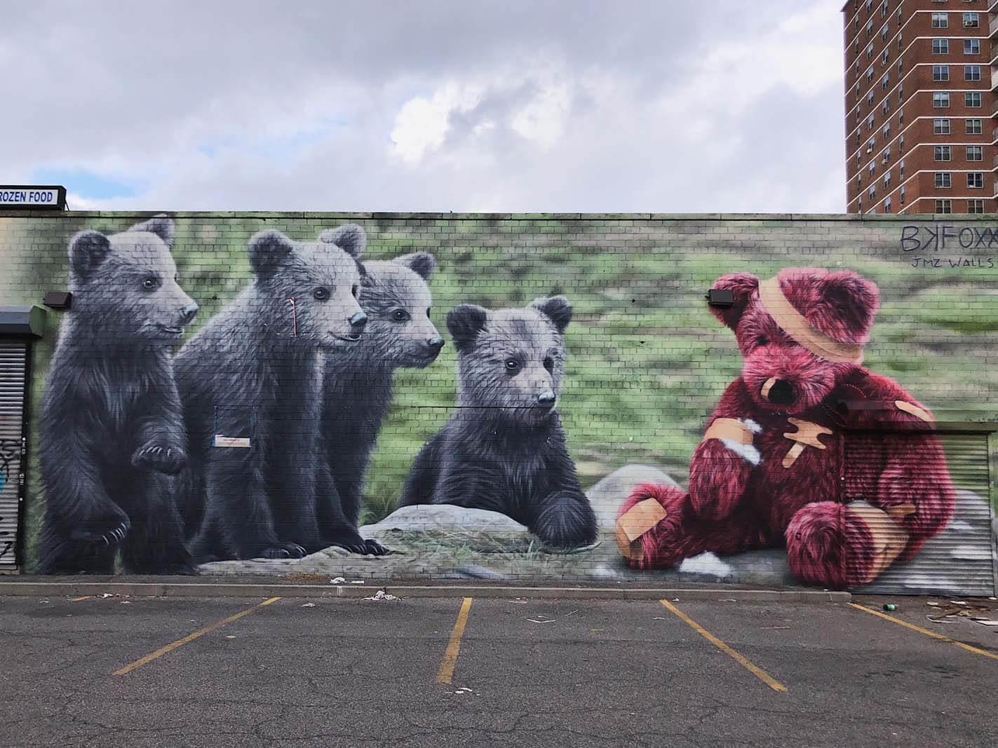 JMZ Walls by BK FOXX bear wall in Williamsburg Brooklyn
