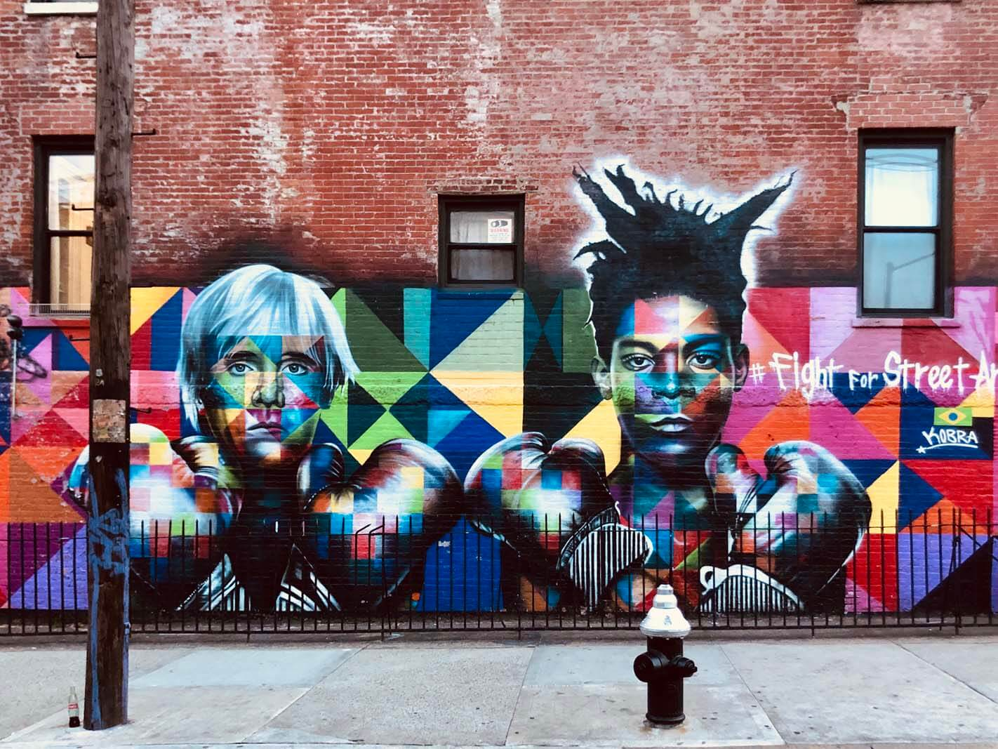 Jean-Michel Basquiat and Andy Warhol by KOBRA in Williamsburg Brooklyn off of Bedford