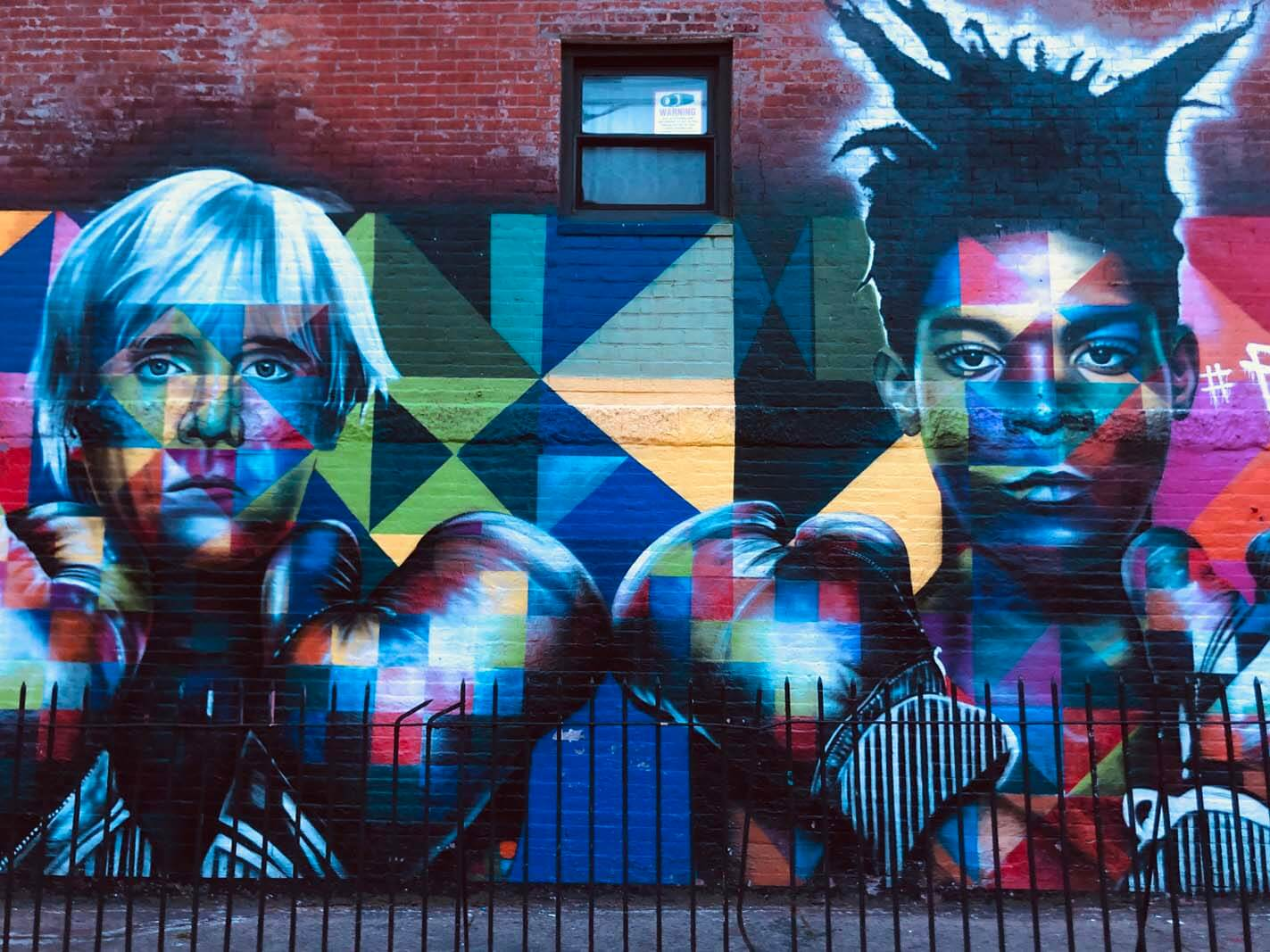 Jean-Michel Basquiat and Andy Warhol by KOBRA in Williamsburg