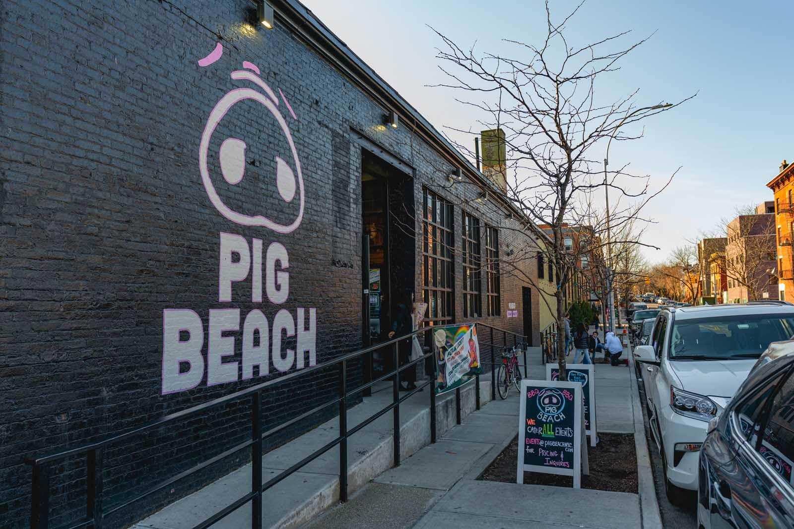Pig Beach in Gowanus Brooklyn