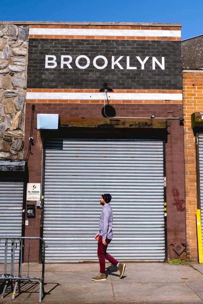 Scott walking in Brooklyn at Gowanus