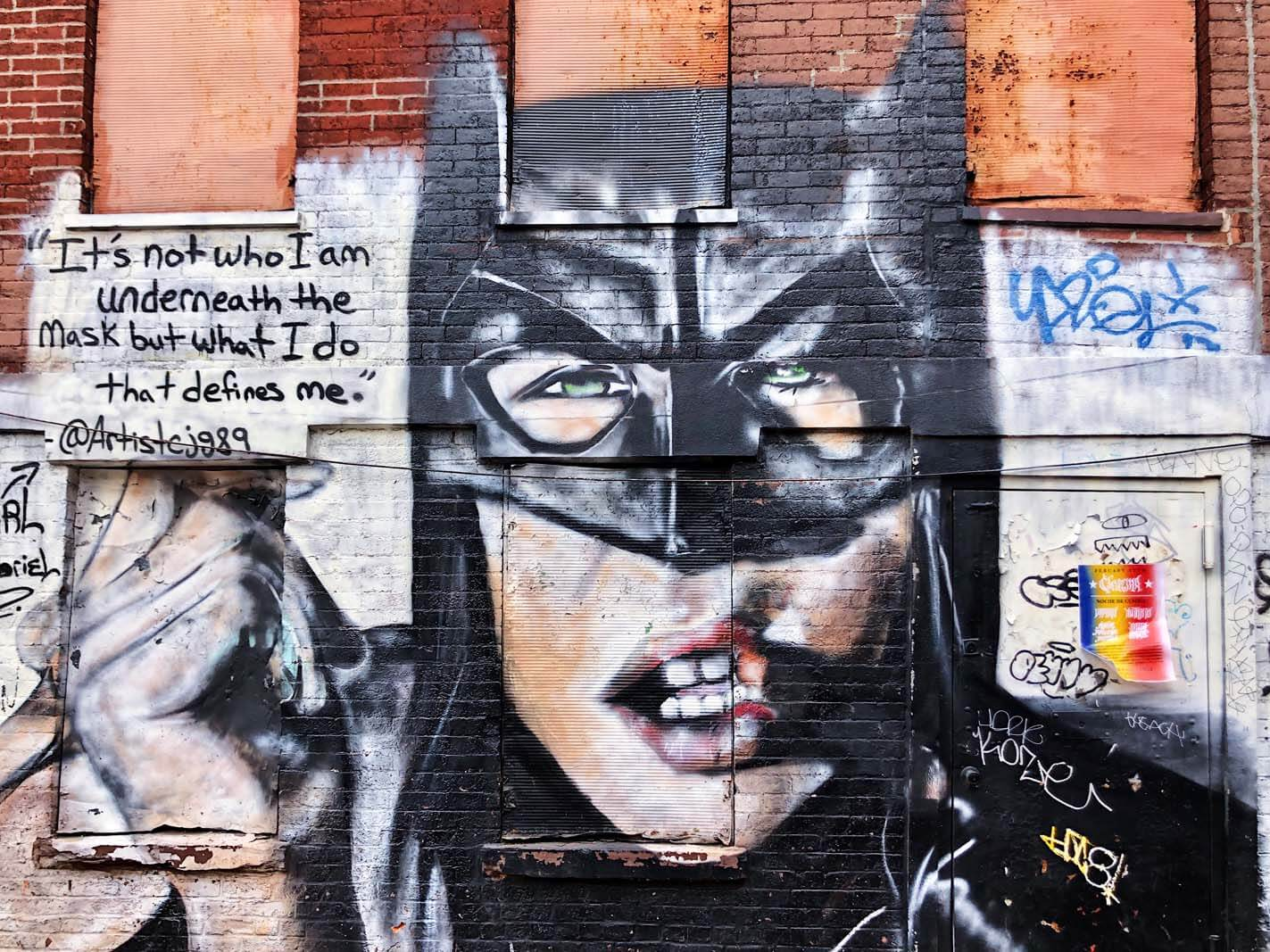 The Batgirl by Carl J Gabriel in Williamsburg Brooklyn