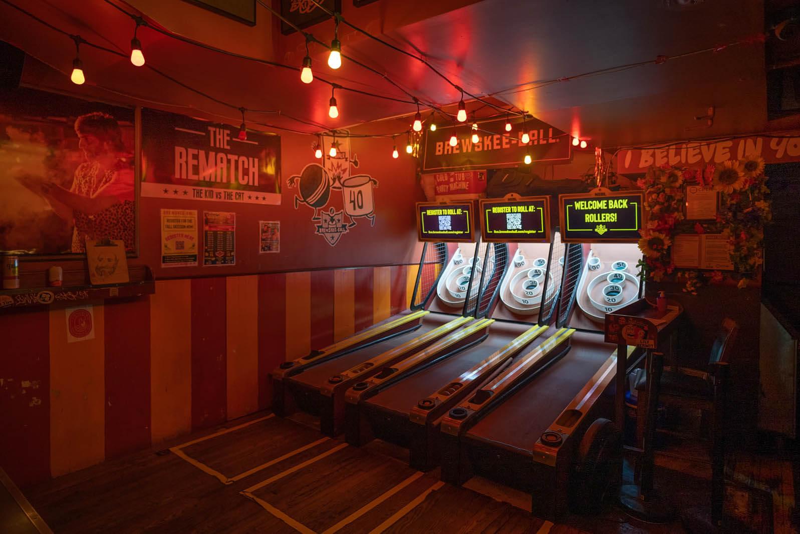 Williamsburg Full Circle Bar and SKEEBALL bar in Brooklyn