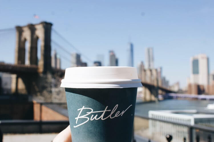 Butler Bake Shop coffee in DUMBO by Katie Hinkle