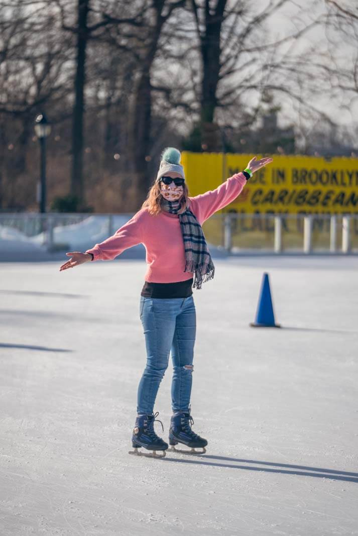 Prospect Park Ice skating at lakeside in brooklyn outdoor ice rink