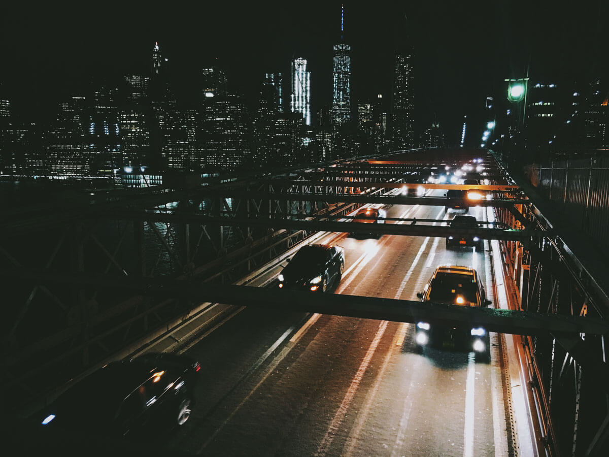 Brooklyn-bridge-cars-at-night-by-katie-hinkle