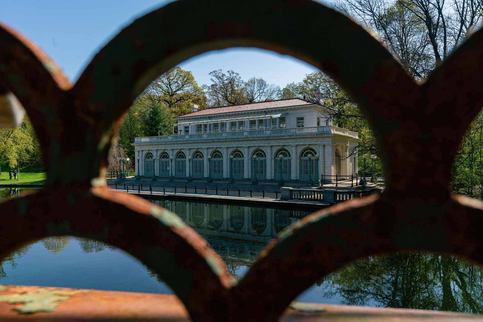 The boathouse in Prospect Park