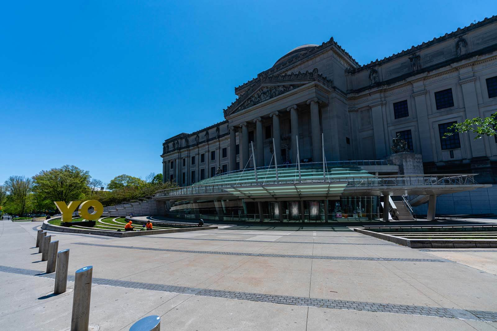 outside the Brooklyn Museum