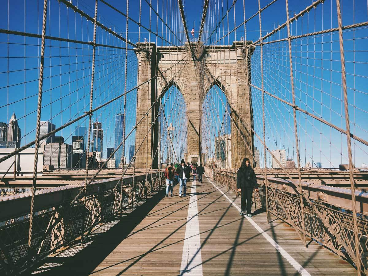 pretty-day-walking-the-Brooklyn-Bridge-by-Katie-Hinkle