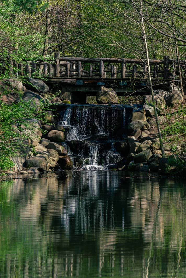 waterfall in prospect park