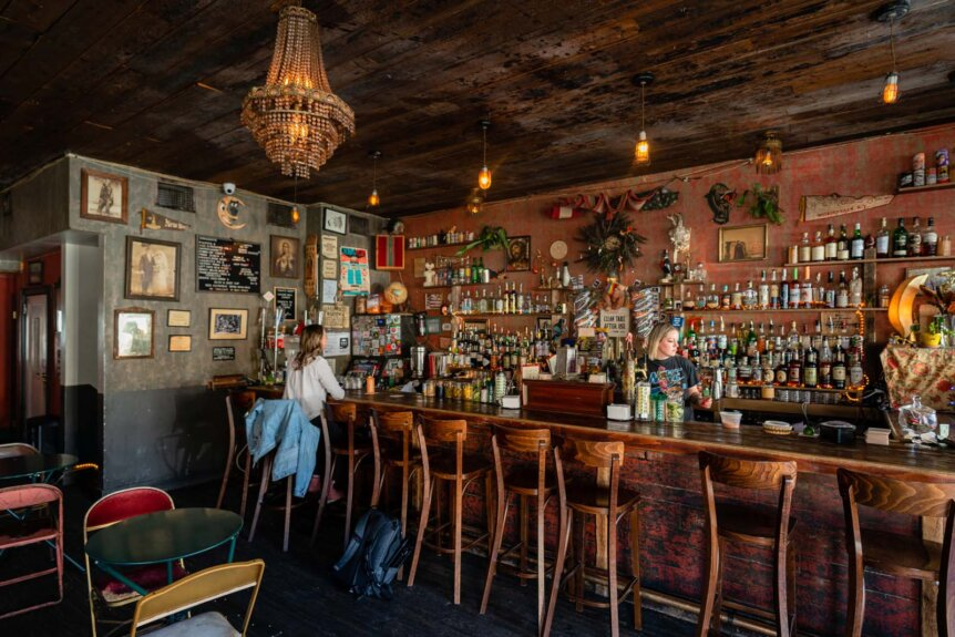 Pearls social and billy club bar in Bushwick