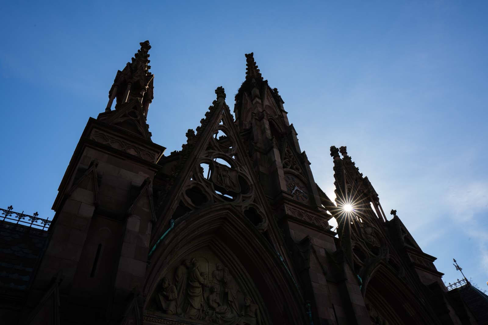 details of the entrance to greenwood cemetery in brooklyn
