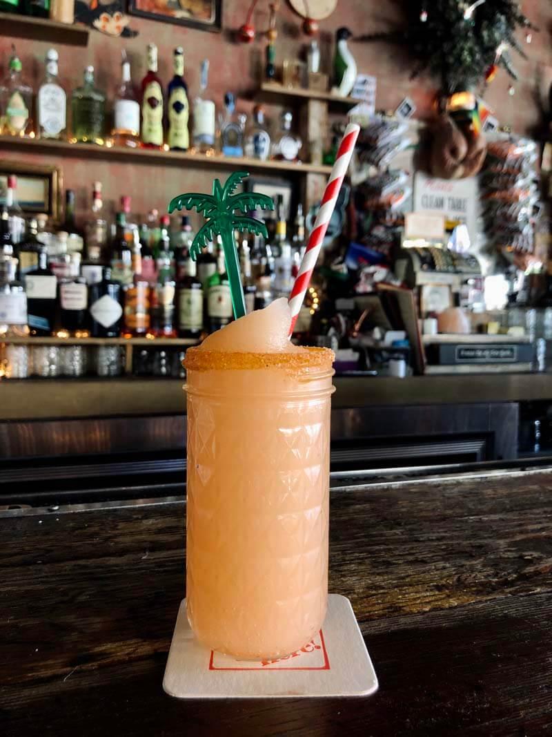 mezcal drink at Pearls Billy Social Club in Bushwick