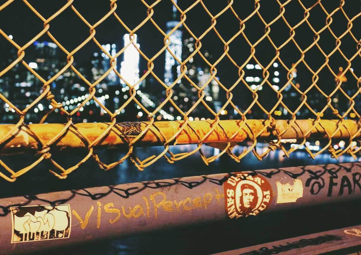 view-at-night-from-the-Manhattan-Bridge by Katie Hinkle