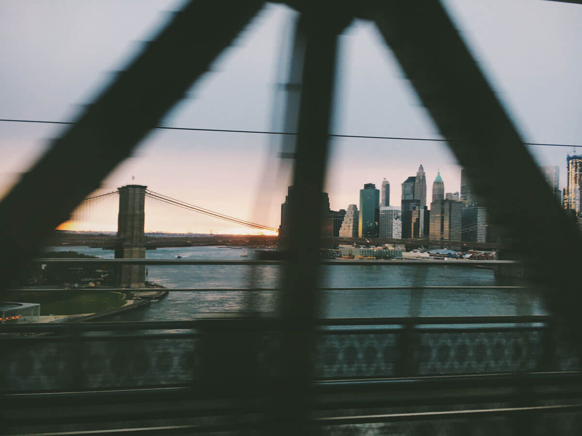 view-via-the-subway-on-the-Manhattan-Bridge by Katie Hinkle