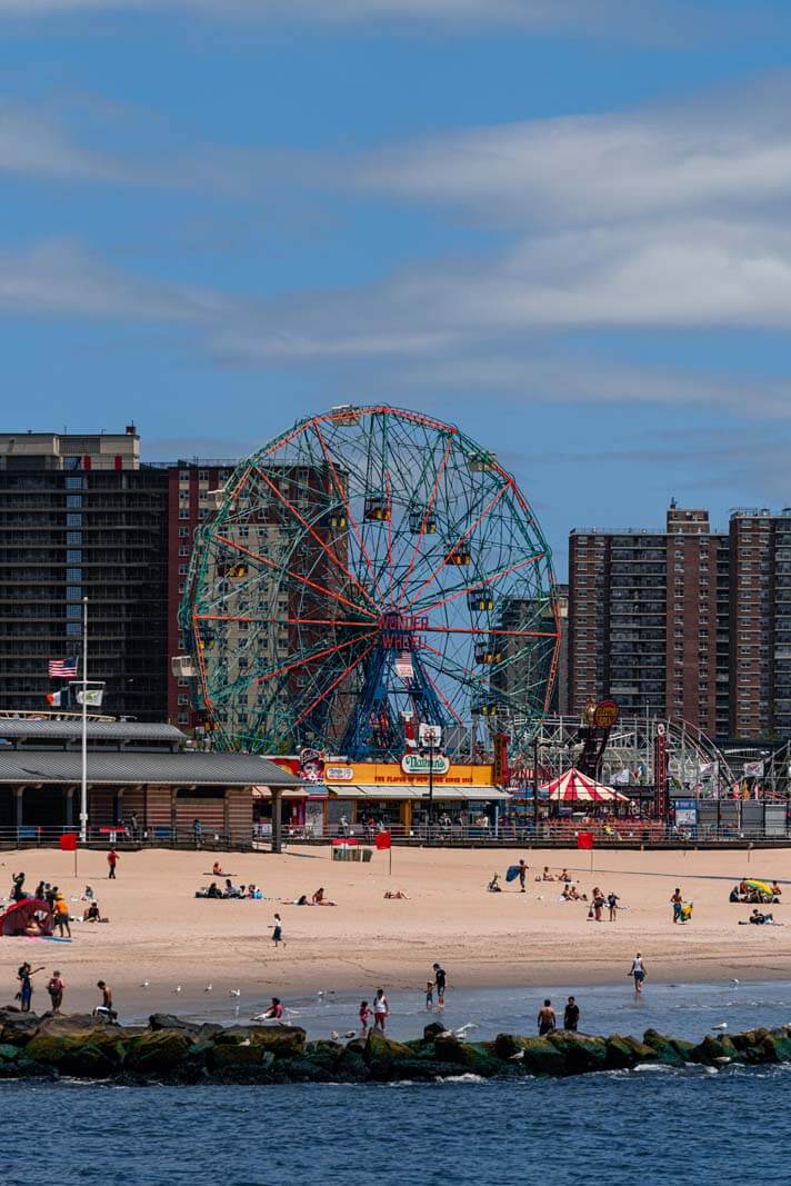 Coney Island Beach half empty from tourists