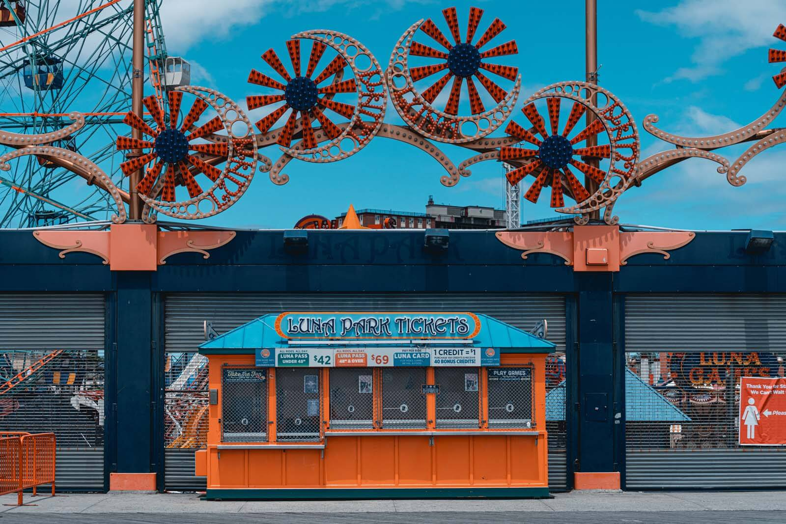 Entrance to Luna Park at Coney Island from Riegelmann Boardwalk