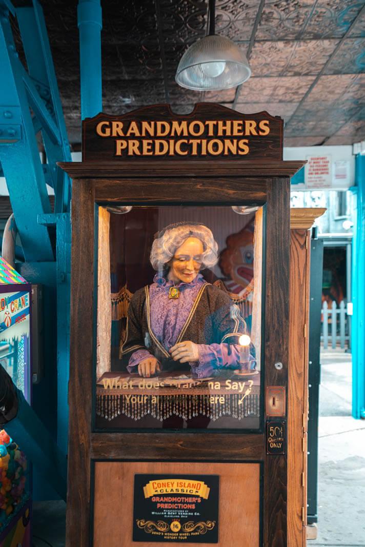 Grandmothers Predictions at Denos Wonder Wheel Park in Coney Island