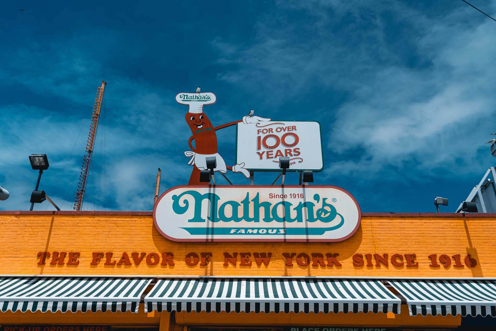 Nathans Famous original location at Coney Island