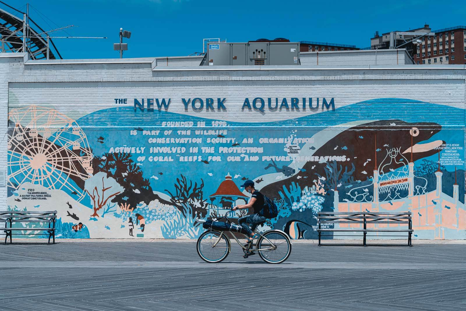 New York Aquarium mural at Coney Island