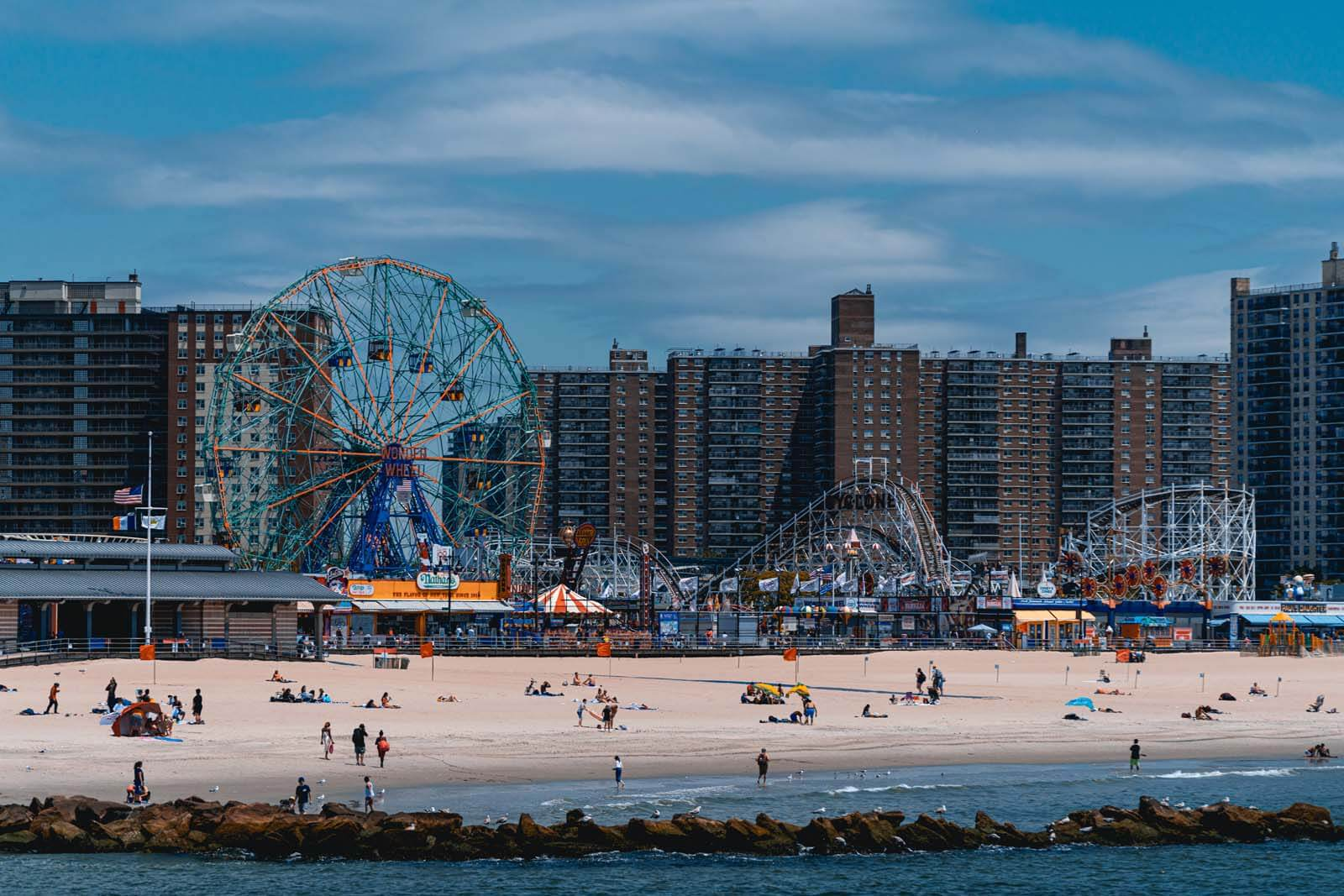View of Coney Island from Steeplechase Pier in Brooklyn