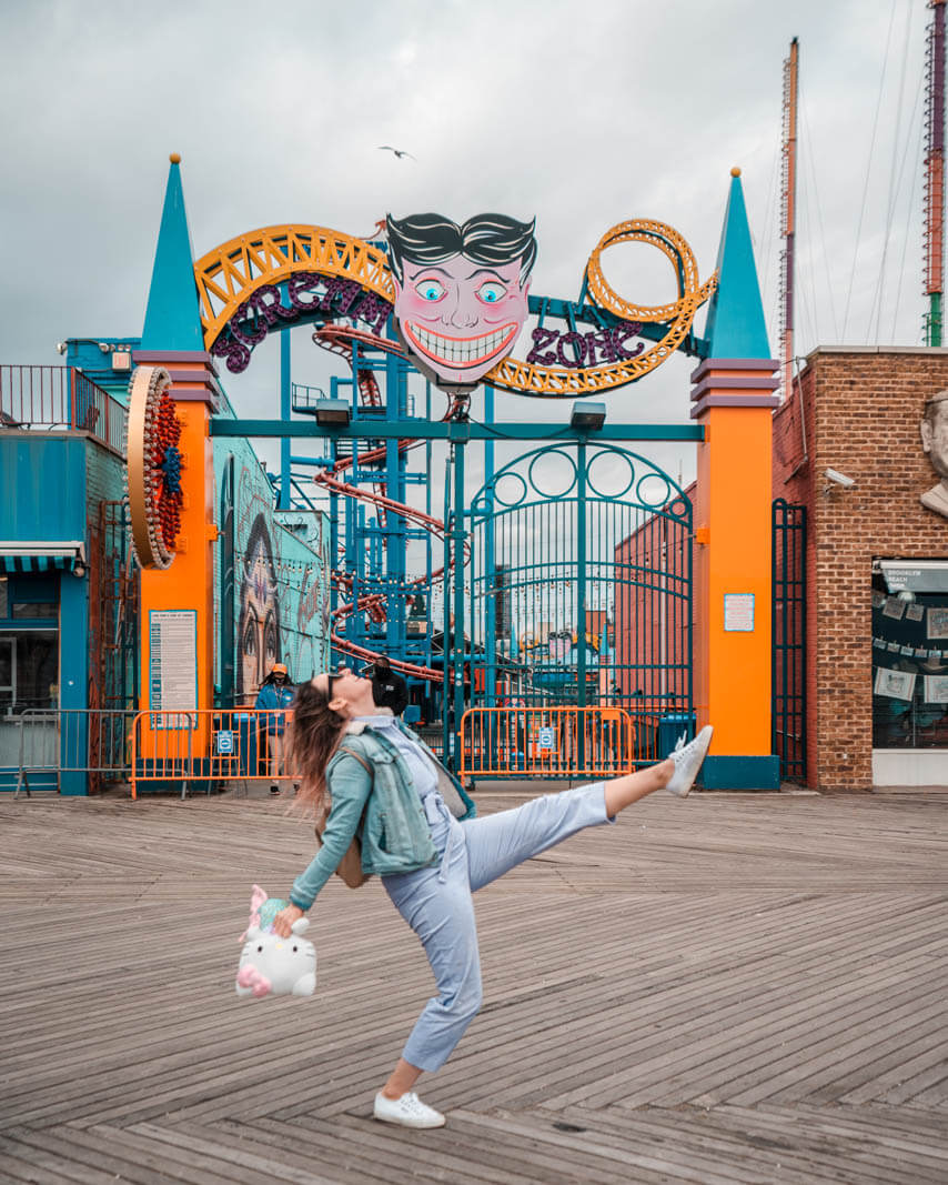 winning a game at the coney island boardwalk