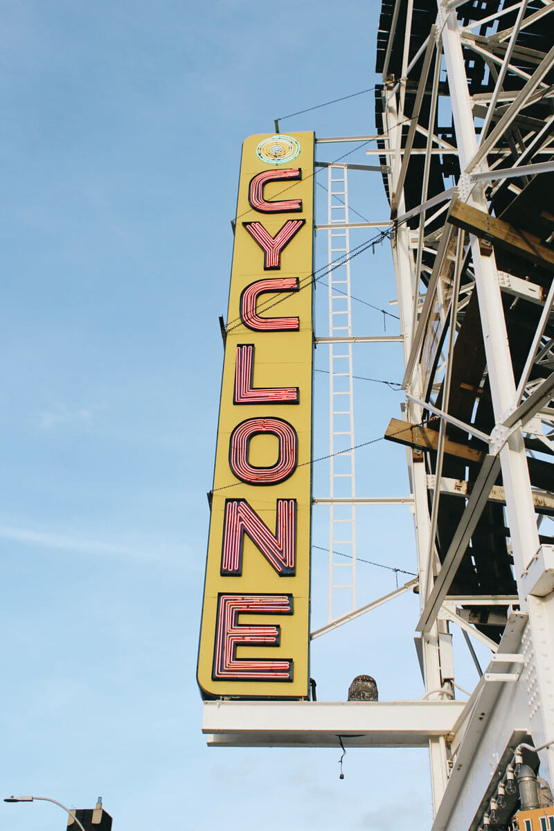 Cyclone-Rollercoaster-sign-at-Coney-Island-by-Katie-Hinkle