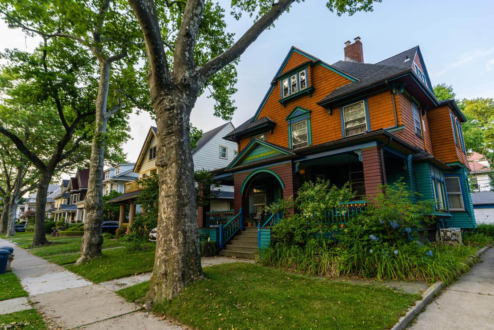 Gorgeous row of homes in Victorian Flatbush and Ditmas Park in Brooklyn