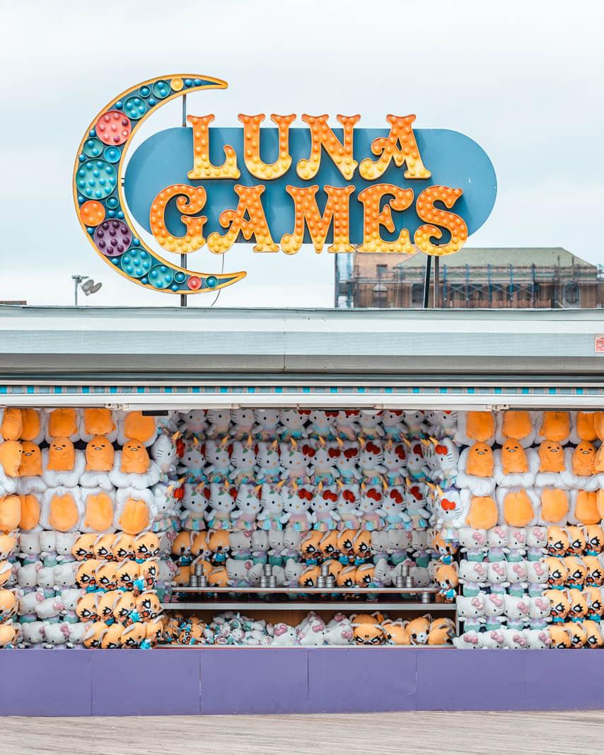 Luna Games on Coney Island Boardwalk in Brooklyn