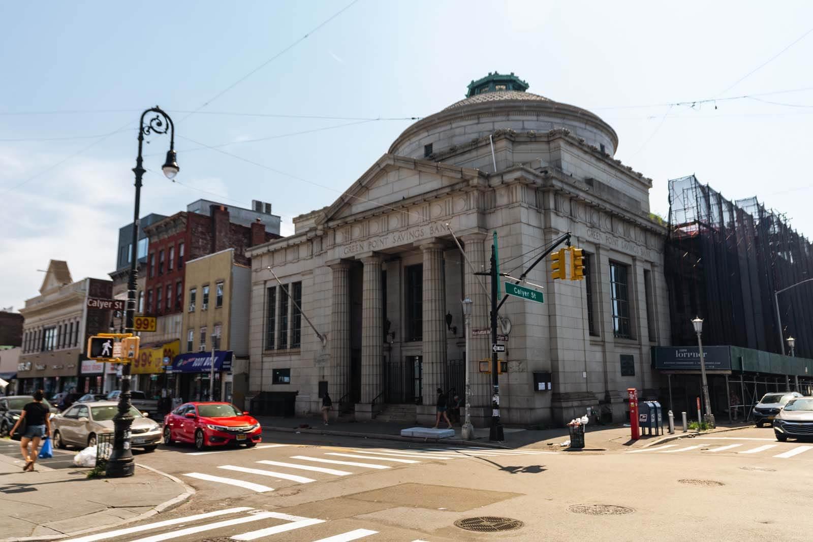 Greenpoint Savings Bank bulding in Greenpoint Brooklyn