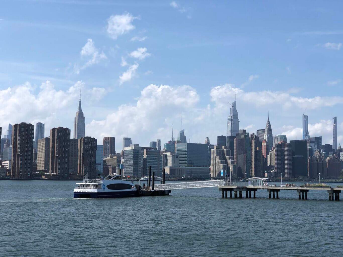 NY Ferry in Greenpoint Brooklyn