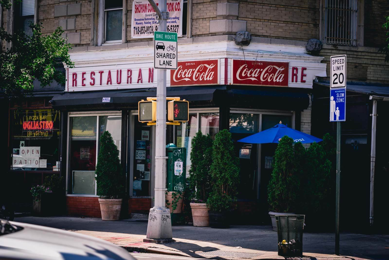 Toms Diner in Prospect Heights Brooklyn