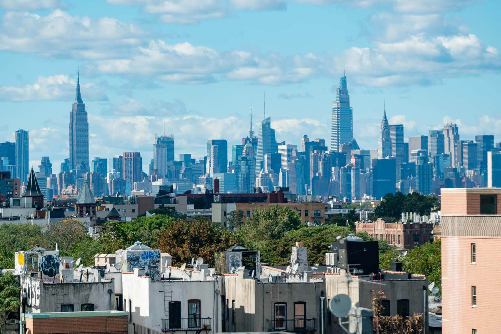 View of Manhattan from the Tiny Cupboard in Bushwick