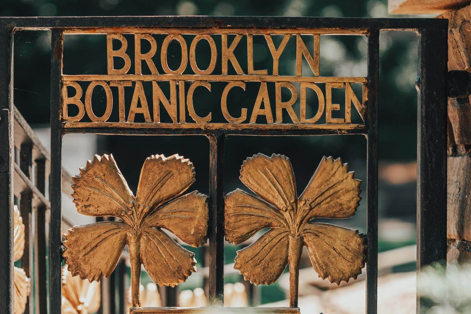 entrance to the fragrance garden at Brooklyn Botanical