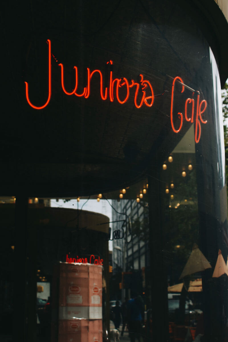 Juniors Cafe and Cheesecake in Downtown Brooklyn by Katie Hinkle