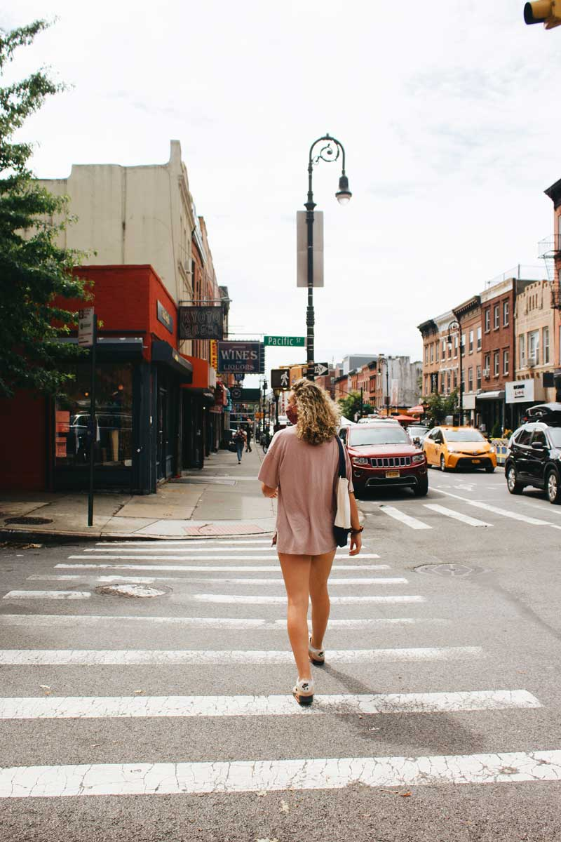 Walking-down-Smith-Street-in-Brooklyn by Katie Hinkle