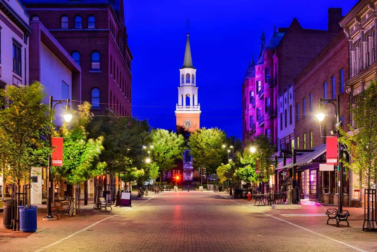 Church Street in Burlington Vermont