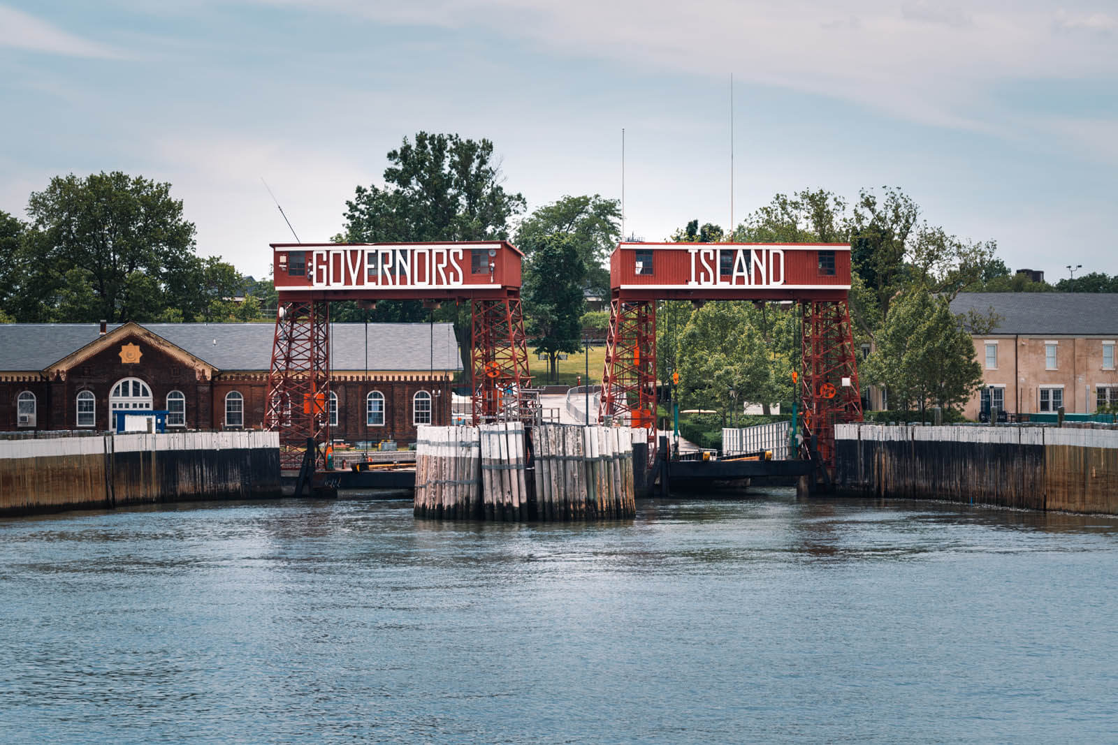 ferry entrance to Governors Island in NYC