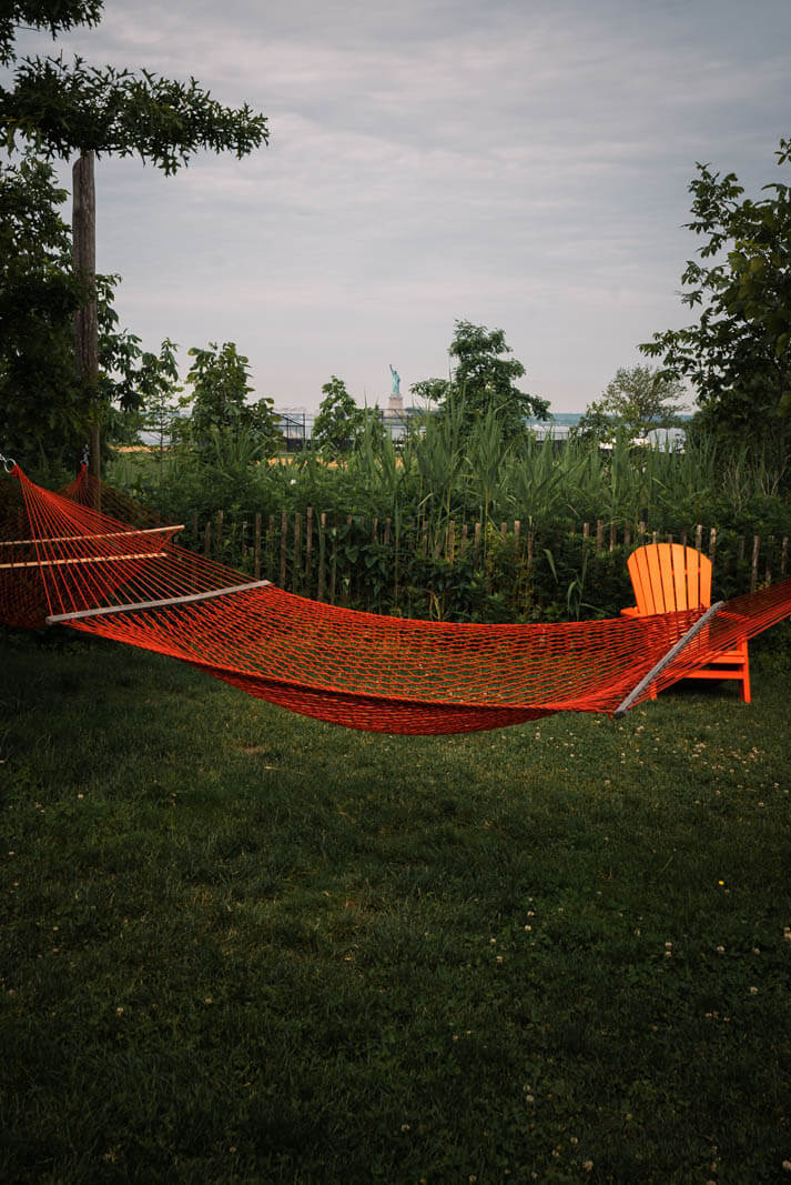 hammock on Governors Island